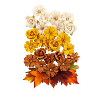 Prima - Autumn Sunset Collection - Flower Embellishments - Corn Mazes