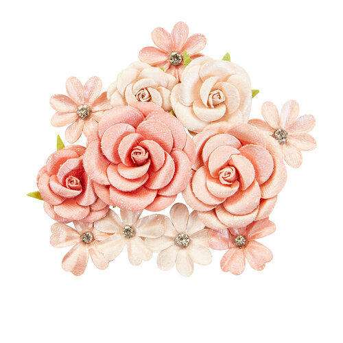 Prima - Apricot Honey Collection - Flower Embellishments - Sweet Apricot