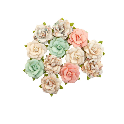 Prima - Apricot Honey Collection - Flower Embellishments - Sweet Pickings