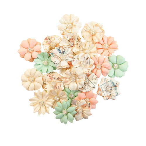 Prima - Apricot Honey Collection - Flower Embellishments - Lovely Peaches