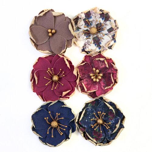 Prima - Darcelle Collection - Flower Embellishments - Worn Elements