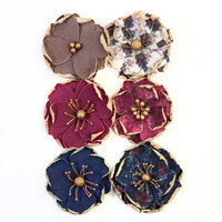 Prima - Darcelle Collection - Flower Embellishments - Worn Elements