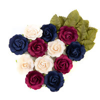 Prima - Darcelle Collection - Flower Embellishments - Elegant Night