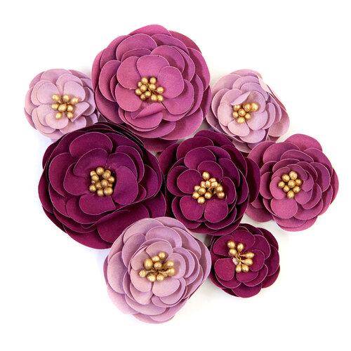 Prima - Darcelle Collection - Flower Embellishments - Plum Afternoon