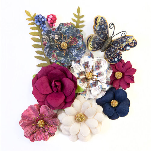 Prima - Darcelle Collection - Flower Embellishments - Glamorous Moment