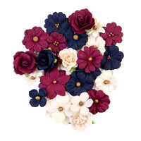 Prima - Darcelle Collection - Flower Embellishments - Gilded Beauties
