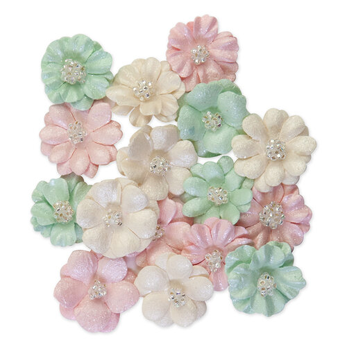 Prima - Dulce Collection - Flower Embellishments - Above The Clouds