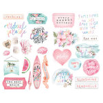 Prima - Surfboard Collection - Chipboard Stickers with Foil Accents