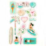 Prima - Surfboard Collection - Wood Stickers