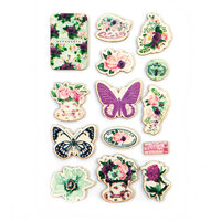 Prima - Pretty Mosaic Collection - Wood Stickers
