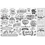Re-Design - Decoupage Decor Tissue Paper - Thankful and Blessed
