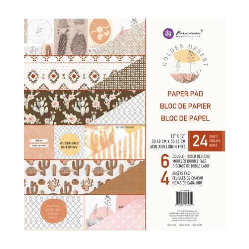 Prima - Golden Desert Collection - 12 x 12 Paper Pad