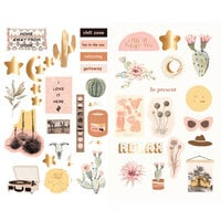 Prima - Golden Desert Collection - Chipboard Stickers