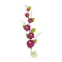 Prima - Pretty Mosaic Collection - Flower Embellishments - Spinel