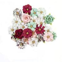 Prima - Pretty Mosaic Collection - Flower Embellishments - Larimar
