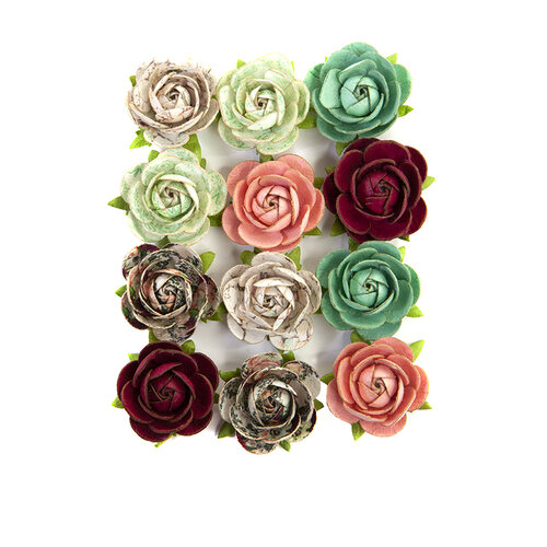 Prima - Pretty Mosaic Collection - Flower Embellishments - Peridot
