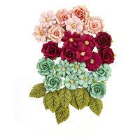 Prima - Pretty Mosaic Collection - Flower Embellishments - Amazonite