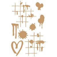 Prima - Chipboard Embellishments - Ink and Splatters