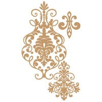 Prima - Chipboard Embellishments - Elegant Damask