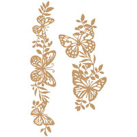 Prima - Chipboard Embellishments - Butterfly Borders