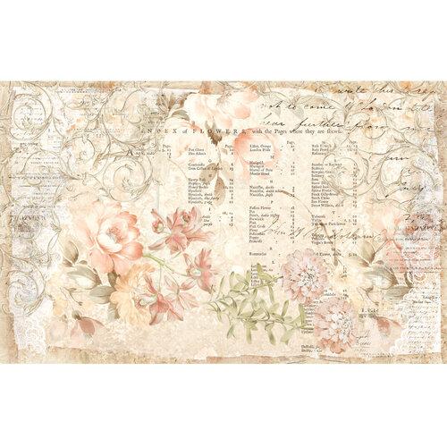 Re-Design - Decoupage Decor Tissue Paper - Floral Parchment