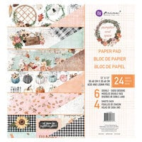 Prima - Pumpkin and Spice Collection - 12 x 12 Paper Pad with Foil Accents