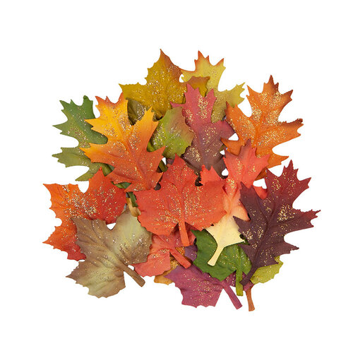 Prima - Pumpkin and Spice Collection - Flower Embellishments - Fall Leaves