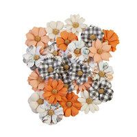 Prima - Pumpkin and Spice Collection - Flower Embellishments - Warm Mittens