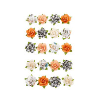 Prima - Pumpkin and Spice Collection - Flower Embellishments - Cozy Evening