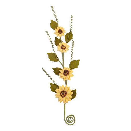 Prima - Pumpkin and Spice Collection - Flower Embellishments - Thankful