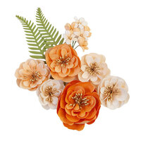 Prima - Pumpkin and Spice Collection - Flower Embellishments - Together