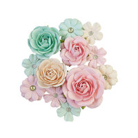 Prima - Sugar Cookie Christmas Collection - Flower Embellishments - Pink Jolly