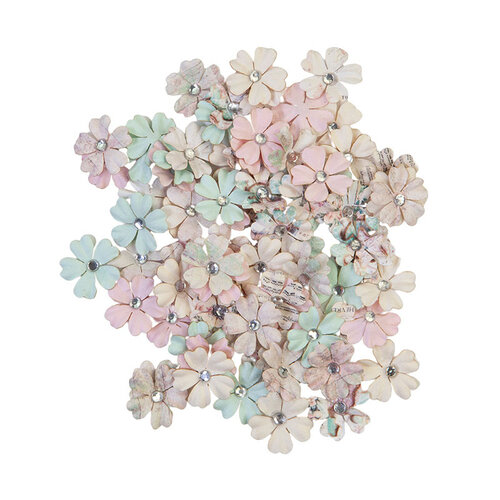 Prima - Sugar Cookie Christmas Collection - Flower Embellishments - White Christmas