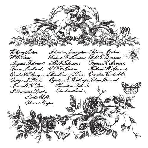 Re-Design - Clear Cling Decor Stamps - Floral Script