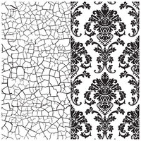 Re-Design - Clear Cling Decor Stamps - Imperial Crackle