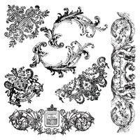 Re-Design - Clear Cling Decor Stamps - Chateau De Maisons