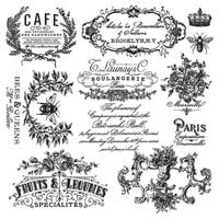 Re-Design - Clear Cling Decor Stamps - I See Paris