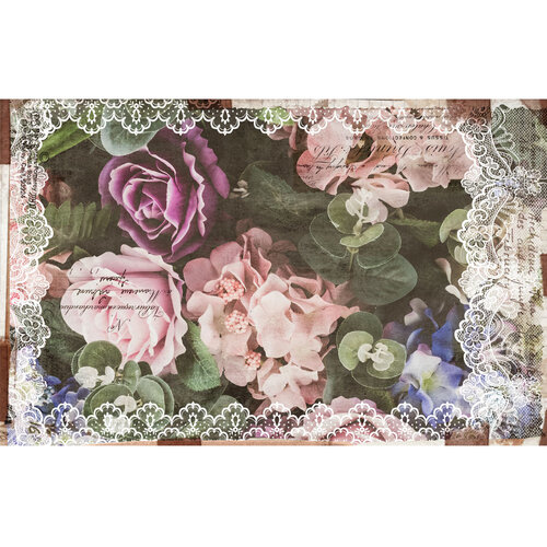 Re-Design - Decoupage Decor Tissue Paper - Dark Lace Floral