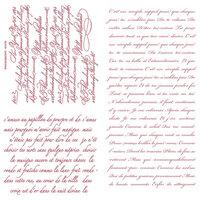 Re-Design - Clear Cling Decor Stamps - Vintage Script