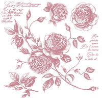 Re-Design - Clear Cling Decor Stamps - Romance Roses