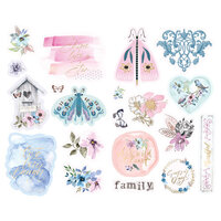 Prima - Watercolor Floral Collection - Chipboard Stickers