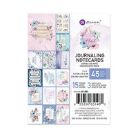 Prima - Watercolor Floral Collection - 3 x 4 Journaling Cards