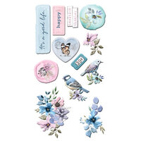 Prima - Watercolor Floral Collection - Puffy Stickers