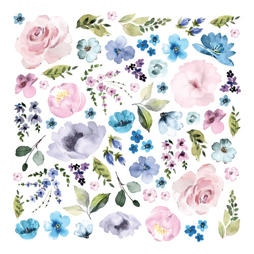 Prima - Watercolor Floral Collection - Ephemera - Set Three