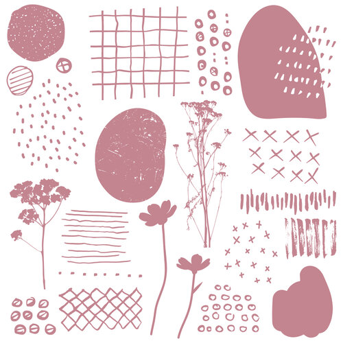 Re-Design - Clear Cling Decor Stamps - Abstract Scribbles
