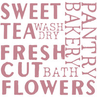 Re-Design - Clear Cling Decor Stamps - Sweet Tea
