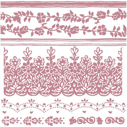 Re-Design - Clear Cling Decor Stamps - Floral Borders