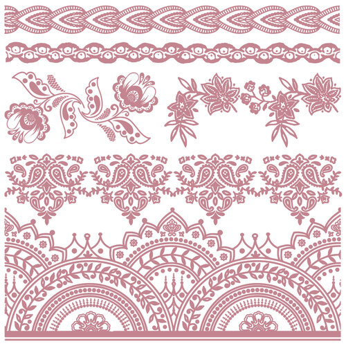 Re-Design - Clear Cling Decor Stamps - Bohemian Florals