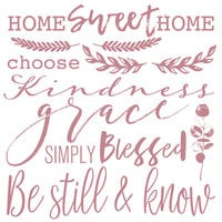 Re-Design - Clear Cling Decor Stamps - Inspired Words