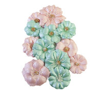 Prima - Magic Love Collection - Flower Embellishments - Pastel Dreams